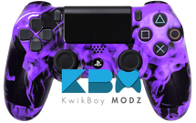 Custom Purple Inferno PS4 Controller