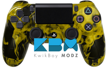 Custom Gold Inferno PS4 Controller