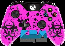Neon Pink BioSplatter Xbox One Controller