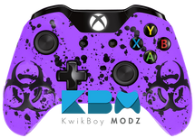 Custom Purple BioSplatter Xbox One Controller