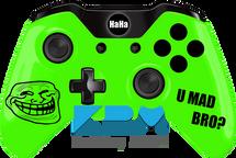 Custom Green Troll Face Xbox One Controller