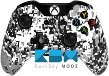 Custom White Digital Camo Xbox One Controller