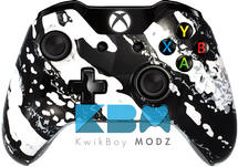 White Splatter Xbox One Controller