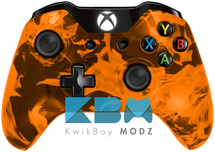 Custom Orange Inferno Xbox One Controller
