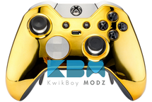 Custom Gold Chrome Elite Controller