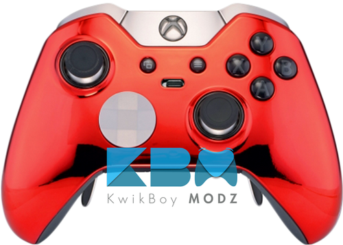 Custom Red Chrome Elite Controller