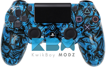 Custom Blue Insanity Skulls PS4 Controller