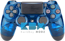 Clear Blue PS4 Controller