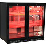RHINO Night Club Commercial Multi Light Colored Black Bar Fridge SG2H-NC
