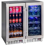 Schmick 2 Zone Matching Combination 200 Litre - Beer and Wine Glass Door Bar Fridge YC100-COMBO