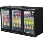 RHINO Commercial Glass 3 Door Bar Fridge Energy Efficient With LG Compressor SG3H-B