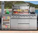 Galaxy Outdoor Kitchen (6 Burner BBQ - LPG/1 Door Fridge) -  Potts Point Package  NEW