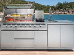 Galaxy Outdoor Kitchen (6 Burner BBQ w/- Side LPG/Sink Unit) -  Paddington Package  NEW