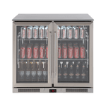 EURO  double door beverage fridge 208Lt - EA900WFSX