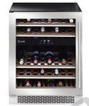 ILVE ILWD37XL 37 Bottle Dual Zone Wine Cabinet Left Hinge SS