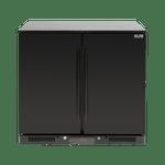 Euro 208L Double Solid Doors Black Beverage Cooler - EA900WSDB