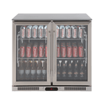 Euro 208L Double Door Stainless Steel Beverage Cooler - EA900WFSX2