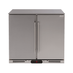 Euro 208L Double Solid Doors Stainless Steel Beverage Cooler - EA90SDSX