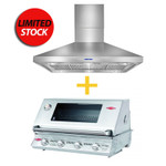 BUNDLE PACKAGE BEEFEATER SIGNATURE 3000(SS) BS12840S BUILT IN  AND ARTUSI RANGEHOOD 120 CM - ARCH12BBQ