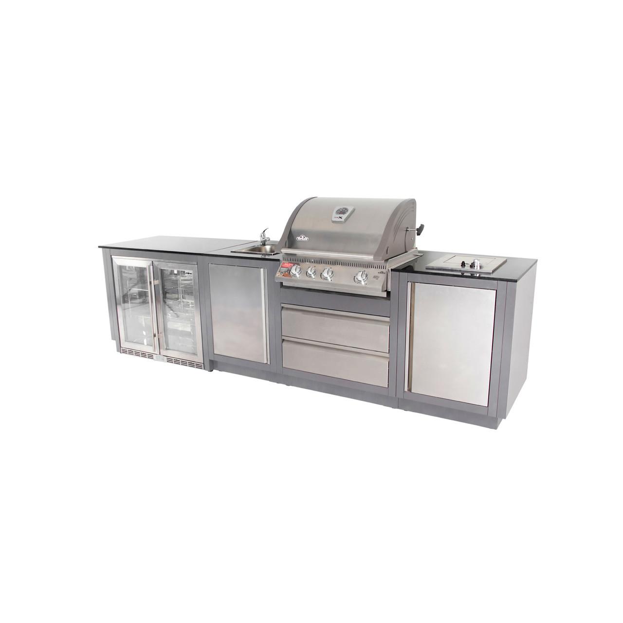 NAPOLEON 485 Double Fridge Straight Array Outdoor Kitchen - The BBQ ...