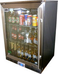Rhino Energy Efficient Glass Door Bar Fridge 129L with Low E