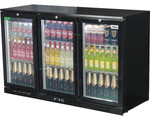 RHINO LG Compressor Alfresco Glass Door 330L Black Bar Fridge SG3H-B