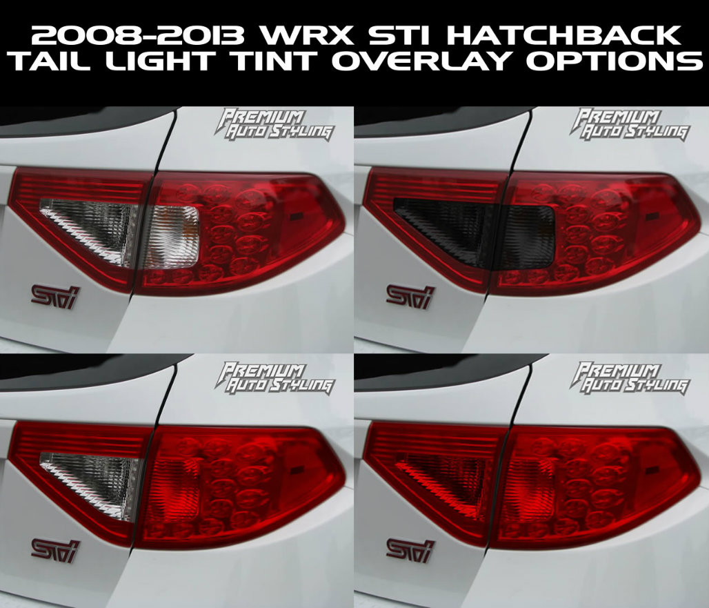 2008 2014 subaru wrx sti hatchback red tail light tint overlays untitled 3g vanachro Images