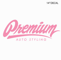 "14"" Premium Signature Logo Decal ( Breast Cancer Awareness )"