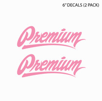 "6"" Premium Signature Logo Decal Set  (Breast Cancer Awareness)"
