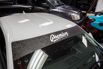 Shadow Black / White Windshield Banner ( Limited )