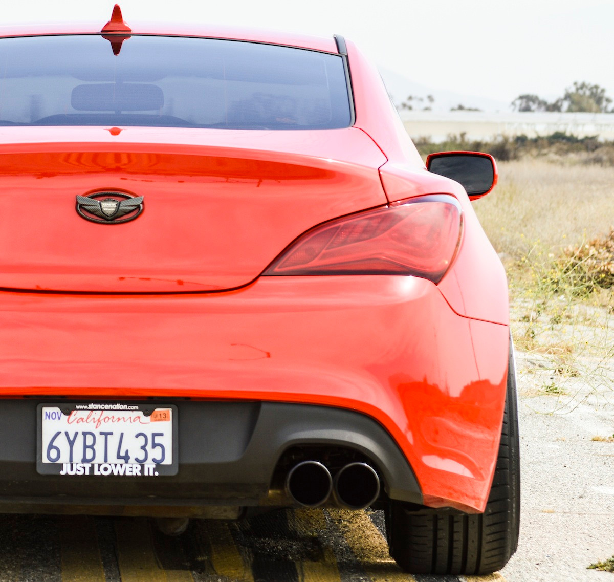 2013 + Hyundai Genesis Coupe Tail Light Overlays (Full Red