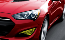 2013 Genesis Coupe Pre Cut Yellow Fog Light Overlays