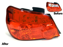 2004-2005 WRX STI Impreza Tail Light Overlays (Full Red Out)