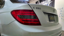 2012 - 2013 Mercedes C-Class (w204) Smoked Reverse Tail Light Tint Overlays