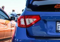 2008-2014 Subaru WRX & STI Hatchback Red Tail Light Tint Overlays w/ Custom Cutouts