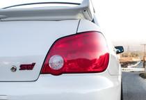 2006-2007 Subaru WRX & STI Red Tail Light Tint Overlays