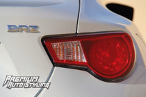 Subaru BRZ Tail Light Red Overlays w/ Blinker Cut Out