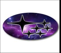 GALAXY Subaru Emblem Overlay