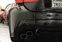 Lexus RC Smoked Bumper Reflector Overlay Inserts ( 2015+ )