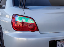 2004-2005 WRX STI Impreza Tail Light Overlays (Neo Chrome)
