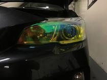 Neo Yellow Headlight Tint - FACE ONLY  (2015-2017 WRX / STI)