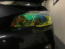 Neo Yellow Headlight Tint - FACE ONLY  (2015-2018 WRX / STI)