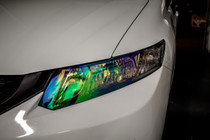 Civic Sedan Neo Chrome Head Light Overlays (2013-2015)