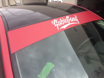 Subie Gang Window Banner ( Red / White )
