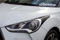 Hyundai Veloster Headlight Amber Delete Tint Overlay (2011-2017)