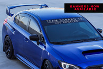 Team Subaru 15 Window Banner (Blk / White)