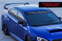 Team Subaru 15 Window Banner (Blk / White)