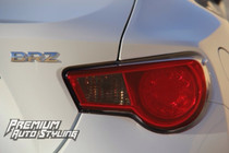 2012-2013 Scion FR-S Tail Light Redout Overlay w/ Blinker Cut Out  + Smoked Inserts