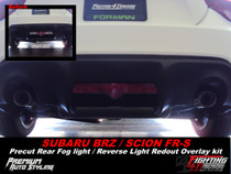 Subaru BRZ Pre Rear Fog Light Red Out Vinyl Overlay
