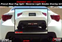 Subaru BRZ Pre Rear Fog Light Smoked Out Vinyl Overlay